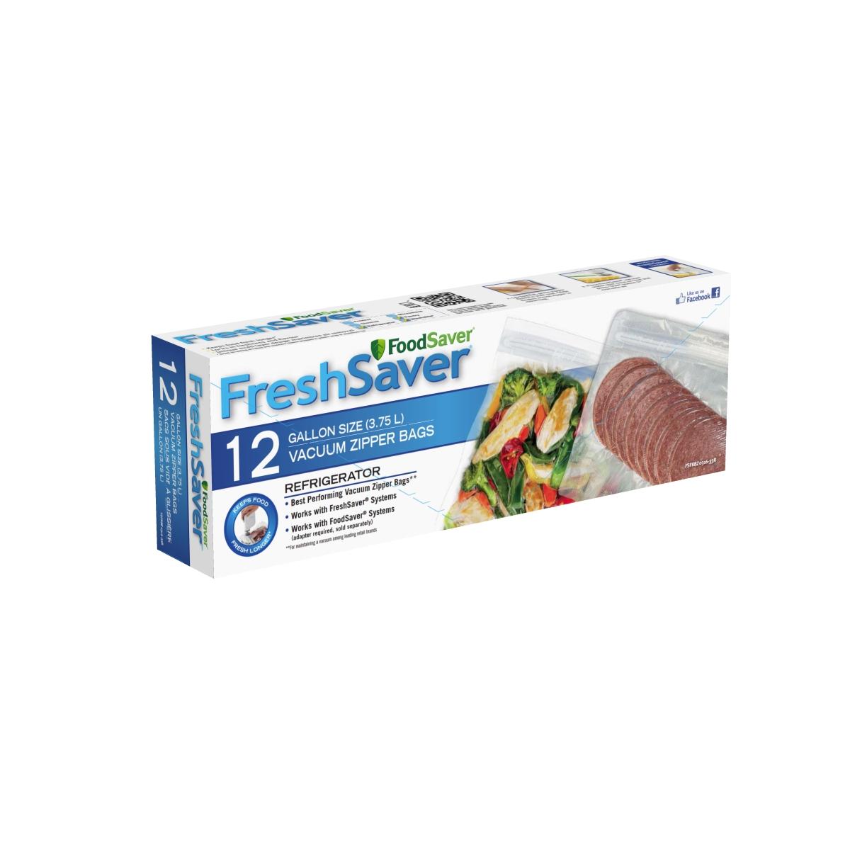 foodsaver freshsaver gallon size zipper vacuum sealer bags 12 count - Vacuum Sealer Bags