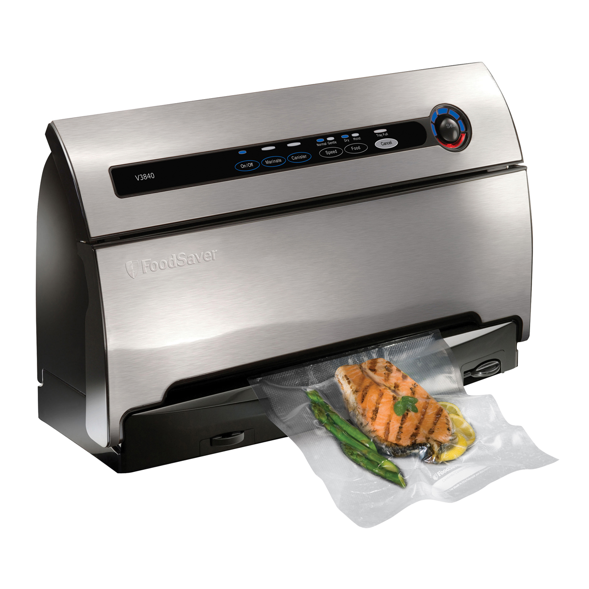 FoodSaver® Countertop V3840 Vacuum Sealing System, Stainless Steel ...