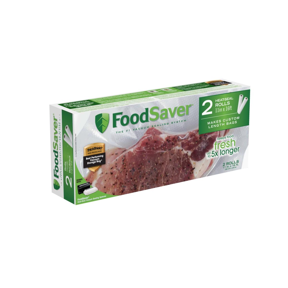 "FoodSaver® 11""x16' Heat-Seal Vacuum Sealer Roll, 2-Pack FSFSBF0626 ..."