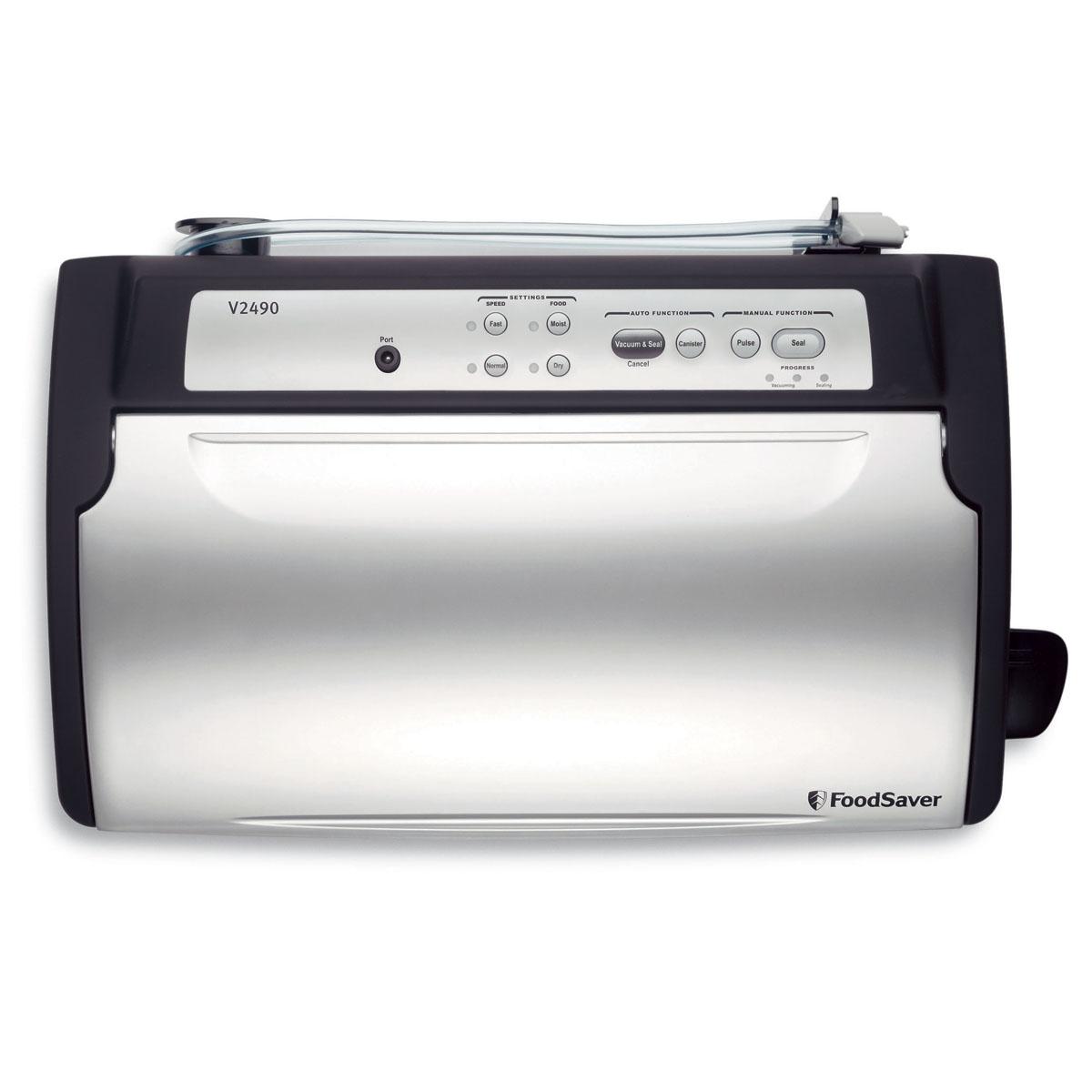 Countertop Vacuum Sealer : FoodSaver? Countertop V2490 Vacuum Sealing System, Stainless Steel ...